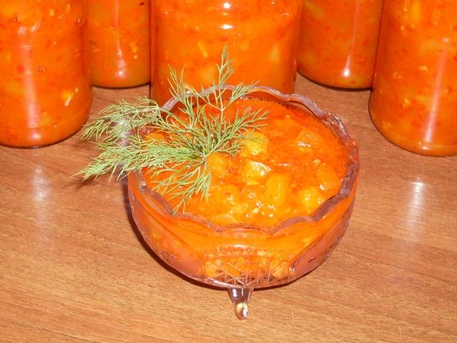 Тещин язык из кабачков с томатной пастой – аппетитная заготовка на зиму