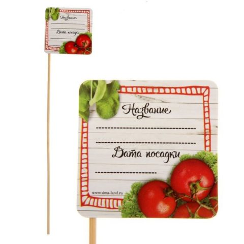 Из чего сделать бирки для томатов